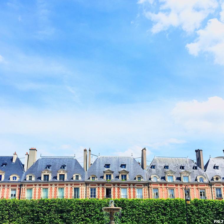 place-de-vosages-paris-summer